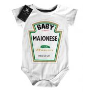 Body Baby Divertido Criativo - Baby Maionese - White