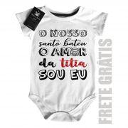 Body Bebê Amor da Titia- White