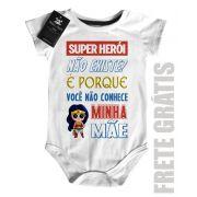 Body Baby Rock - Herói não existe? Mamãe - White
