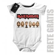 Body Baby Rock Iron Maiden - Caricature - White