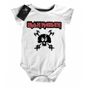 Body Baby Rock Iron Maiden - White