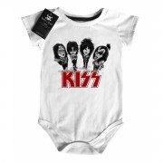 Body Baby Rock - Kiss - Caricato- White