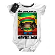 Body Bebe Bob Marley No Baby Cry - white