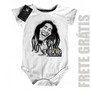Body Bebê Bob Marley - White