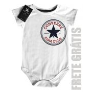 Body Bebe Cristão Converse com Deus - CHEST WHITE