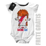 Body Bebê David BOI - Arte Bovina  Rock n Roll- White
