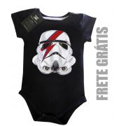 Body Bebê David Bowie- Star Wars - Black