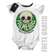 Body Bebe de FutRock Time  -  Palmeiras Rock club Monster - White