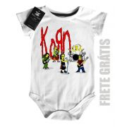 Body Bebe de  Rock Baby-  Korn Simpsons - White
