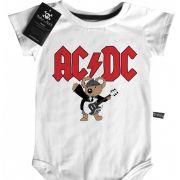 Body Bebê de Rock Bebê  ACDC Cute  - White