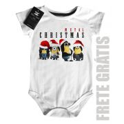 Body Bebe de  Rock Natal - Minions - White