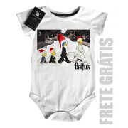 Body Bebe de  Rock Natal - The Beatles Simpsons - White