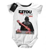 Body Bebe Divertido Estou com Fome Sempre Star Wars - white