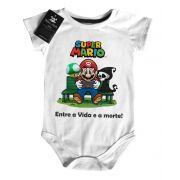 Body Bebe Game Mario entre a vida e a morte - White
