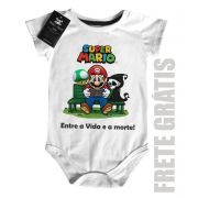 Body Bebe Game Mario entre a vida e a morte - White