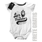 Body bebê Luz do Mundo - white
