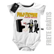 Body Bebê Pulp Fiction - Tempos de GAME  (Tarantino) - White