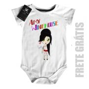 Body Bebê Rock  Amy Whinehouse Cute Color  - White
