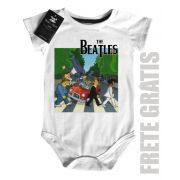 Body Bebe Rock  Infantil Beatles Homer Car - White
