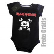 Body Bebe Rock Iron Maiden -  Skull - Black
