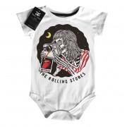 Body Bebê Rock -  Rolling Stones Skull