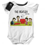 Body Bebê Rock The Beatles - Snoopy  Let it Be  - White