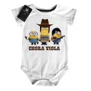 Body Bebe Sertanejo Minions Evidências- White