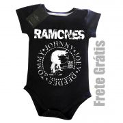 Body de Rock para Bebê do RAMONES - Black
