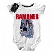 Body de Rock para Bebê do RAMONES - Caricature  White