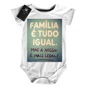 Body  Infantil - Família tudo igual   - White