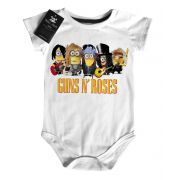 Body Rock Baby Guns n Roses  Minions  - White