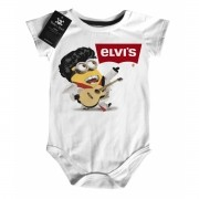 Body Rock Bebê Elvis Minions  - White