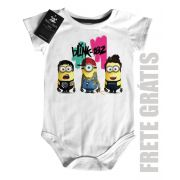 Body  Rock infantil Blink 182 Minions - White