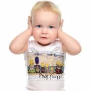 Camiseta Baby de Rock Infantil - Pink Floyd Simpson - White