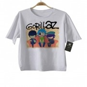 Camiseta de Rock Gorillaz - White