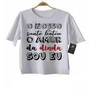 Camiseta de Rock Infantil -  Amor da Dinda - White