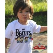 Camiseta de Rock  Infantil Beatles - Minions - White