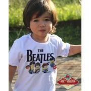 Camiseta de Rock  Infantil Beatles - Minions - White
