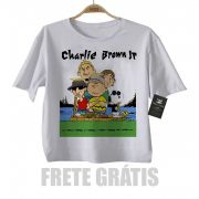 Camiseta de Rock Infantil  Charlie Brown JR  Snoppy - White