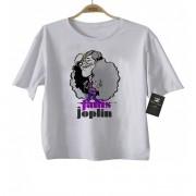 Camiseta de Rock Infantil - Janis Joplin - White
