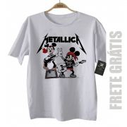 Camiseta de Rock Infantil - Metallica Mickey - White