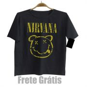 Camiseta de Rock Infantil -  Nirvana - Black