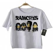 Camiseta de Rock Infantil - Ramones - Minions - White