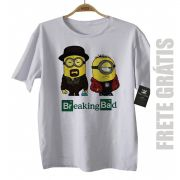 Camiseta de Série Infantil - Breaking Bad - Minions - White