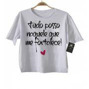 Camiseta  Gospel Tudo Posso - White