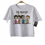 Camiseta  Infantil Beatles - Snoopy - White
