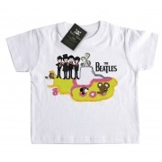 Camiseta  Infantil Beatles - Submarino D - White