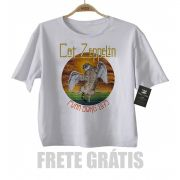 Camiseta infantil  Cat Zeppelin Cute - White