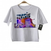 Camiseta Infantil de Rock  Coldplay - White