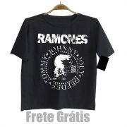 Camiseta Infantil de Rock do RAMONES - Black
